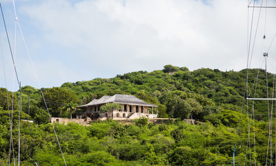 Old Stone House on Green Tropical Hill