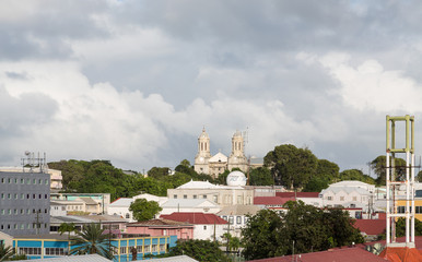 Rooftops in Antigua with Old Church in Distance