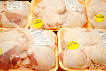 Packaged Chicken Thighs at the Market