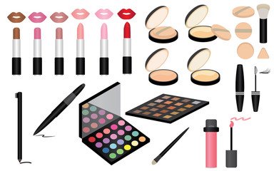 Set of Make up and Cosmetics