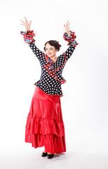 female, spanish flamenco dancer