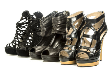 group of fashionable high heels