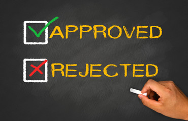 approved not rejected concept with checkbox