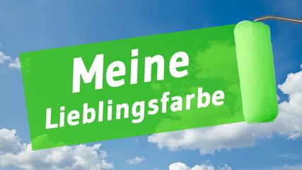 ms31 MalerSchild - Text - Meine Lieblingsfarbe - 16 zu 9 - g1360