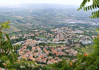 The view from the mountain Titanium, San Marino.