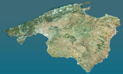 Vista aerea dell'isola di Maiorca, Baleari, Spagna