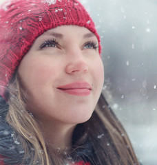 pretty girl snow