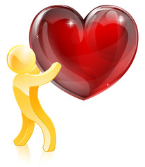 Heart love gold man