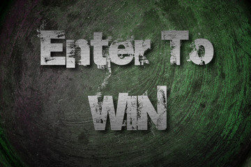 Enter To Win Concept
