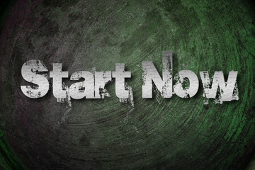 Start Now Concept