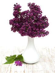 summer lilac flowers in vase