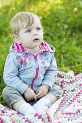 pretty little baby portrait