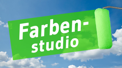 ms34 MalerSchild - Text - Farbenstudio - 16 zu 9 - g1363