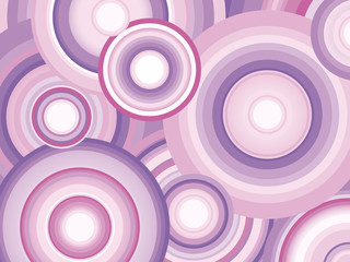 Abstract Retro Vector Background with circles