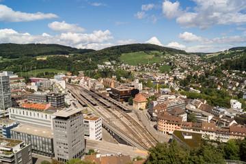 [Europa - Schweiz] Stadt Baden von Oben
