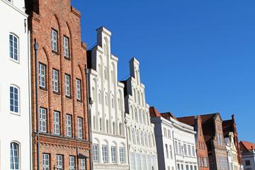 Giebelhäuser in Lübeck