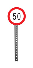 Traffic Warning Signboard - isolated