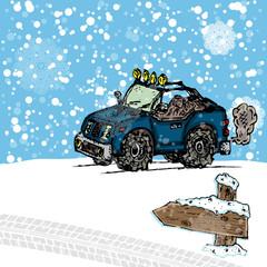 Winter SUV sketch