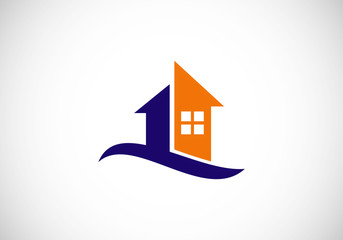 house realty abstract vector logo