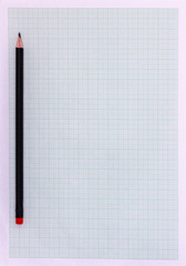 Graph paper A4 with pencil