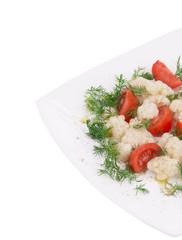 Cauliflower salad close up.