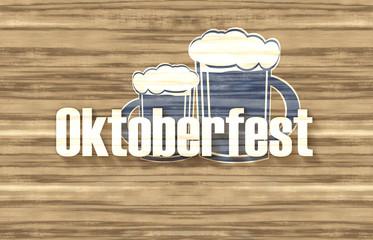 Bavaria Oktoberfest Flag Wood Design