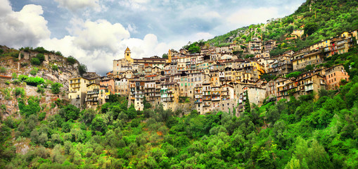 picturesque village Saorge, Alpes Maritimes , France