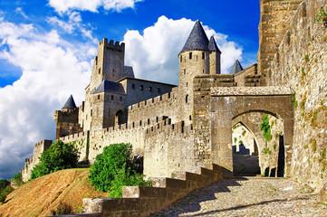 medieval castles of France - Carcassonne, most biggest forteress