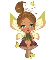 Маленькая осенняя фея