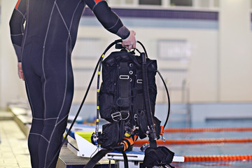 scuba diving equipment cylinders