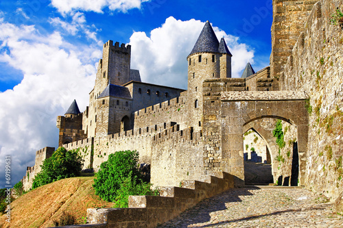 medieval castles of France - Carcassonne, most biggest forteress