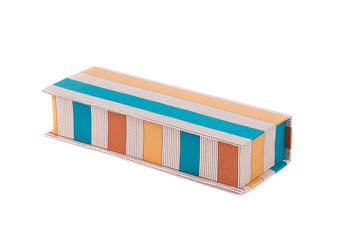 Handmade boxes with art materials for decor.