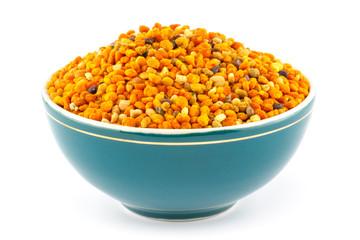 Pollen granules in bowl