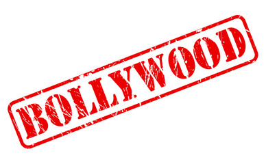 Bollywood red stamp text