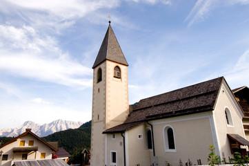 Kirche in Antermoia - Gadertal - Dolomiten - Alpen