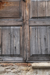 close up chinese wooden window in sun light