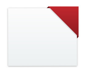 the blank banner with color corner