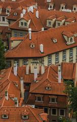 Прага Вид на черепичные крыши