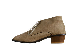 Elevation of Woman Suede Leather Shoes