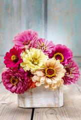 Bouquet of zinnia flowers