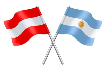 Flags : Austria and Argentina