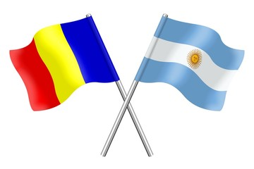 Flags : Romania and Argentina