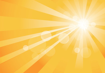 yellow abstract background with rays