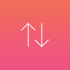 Downn Up arrows - Finely crafted line icons