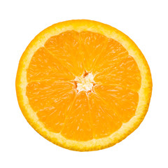 Slice of orange isolated and clipping path