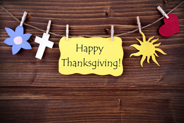 Happy Thanksgiving Greetings with Different Symbols