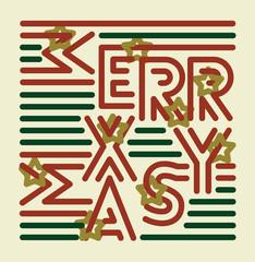 Striped Merry Xmas