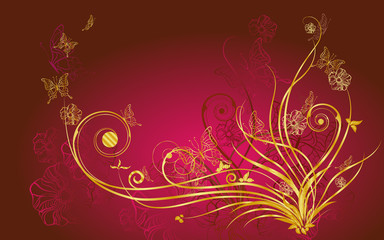 Abstract Floral  Background, Trendy Design Template