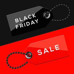 Black Friday sales tags
