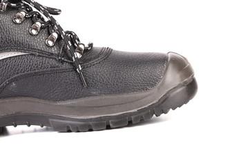 Black man's boot close up.